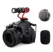 COMICA CVM-VM10II-R MINI ON-CAMERA DIRECTIONAL SHOTGUN MIC (RED)